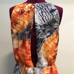 H&M Dresses - Orange & black maxi dress by H&M